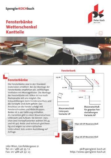 Preisliste Kantteile - Spenglerei Peter Koch GmbH