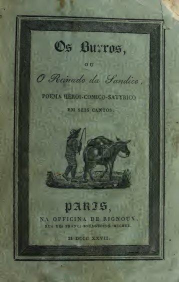 Os burros, ou, O reinado da sandice : poema heroi-comico-satyrico ...