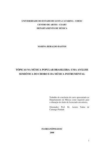 tópicas na música popular brasileira - Pergamum - Udesc