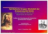 Spiritistische Gruppe: Werkstatt der Erneuerung des Geists