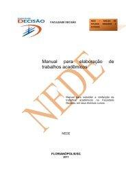 Manual Monografia 2011/2. - Faculdade Decisão