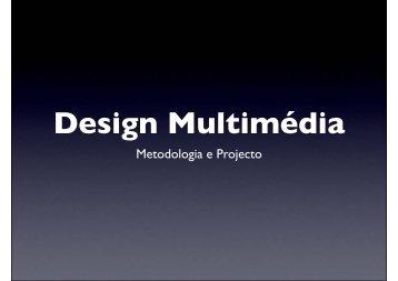 Design Multimédia - Leonel Cunha