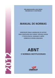 Normas da ABNT - Unifran