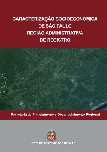 RA de Registro - Secretaria de Planejamento e Desenvolvimento ...