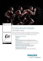 SHB6017/28 Philips Headset estéreo Bluetooth