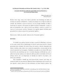 Educação Matemática em Revista (Rio Grande do Sul), v. 7 ... - Unifra