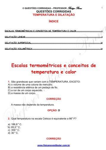 Temperatura e Dilatação - Física no Vestibular
