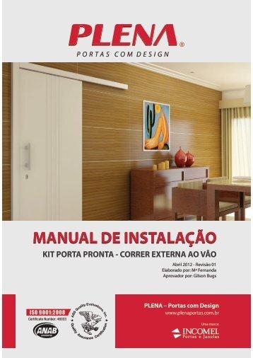 Manual de Instalação Kit Porta Pronta de Correr - Portas com Design