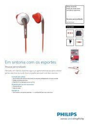 SHQ1000/10 Philips Fones de ouvido intra-auriculares ... - Colombo