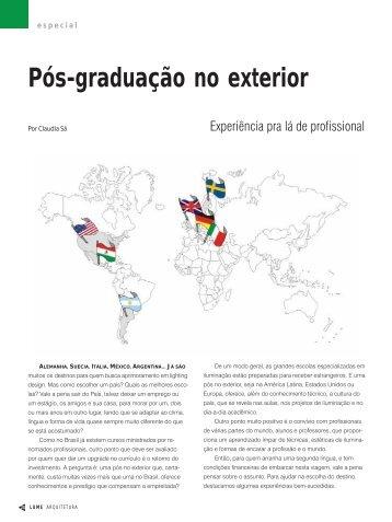 Pós-graduação no exterior - Lume Arquitetura