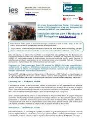 Inscrições abertas para II Bootcamp e ISEP Portugal em www.ies ...