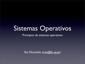 Princípios de sistemas operativos Rui Maranhão (rma@fe.up.pt)