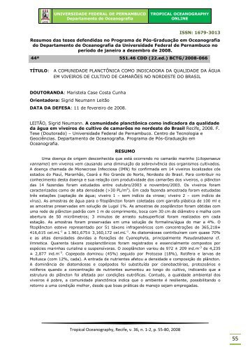 Abstract — Resumo - Universidade Federal de Pernambuco