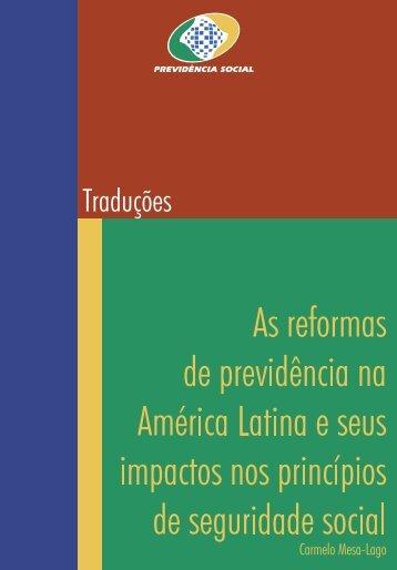 As reformas de previdência na América Latina e - Ministério da ...