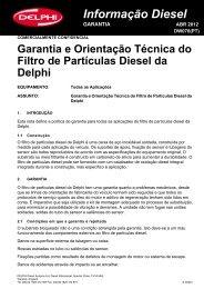 Informação Diesel GARANTIA - TRW Automotive Aftermarket