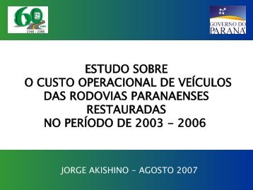 Custo Operacional_Rodovias Restauradas.pdf - DER