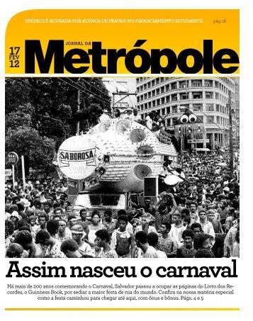 Assim nasceu o carnaval - Jornal da Metrópole