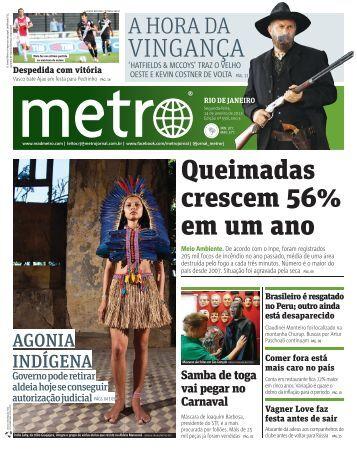 Queimadas crescem 56% em um ano - Metro