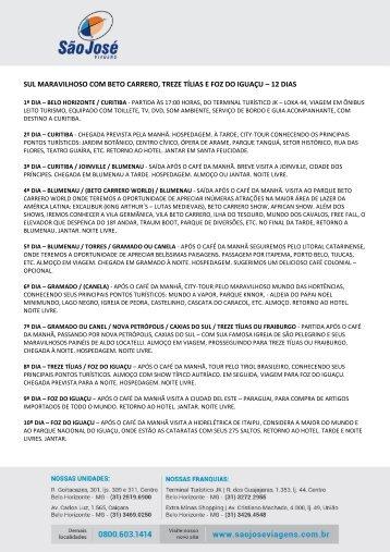CABO FRIO C/ ARRAIAL DO CABO – 06 DIAS - São José Viagens