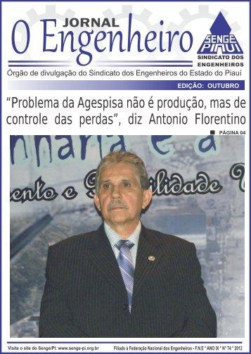 """""""Problema da Agespisa não é produção, mas de ... - Senge - PI"""