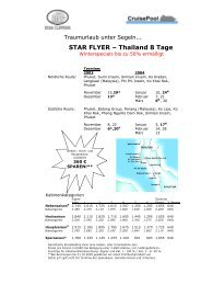 STAR FLYER – Thailand 8 Tage - The Cruise Line AG
