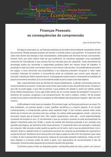 Finanças Pessoais - Faculdades Santa Cruz