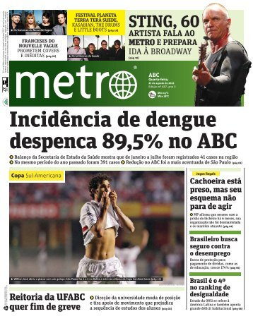 Incidência de dengue despenca 89,5% no ABC - Metro