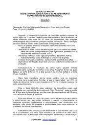 ESTADO DO PARANÁ - Secretaria da Agricultura e Abastecimento