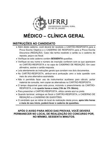 Médico / Área Clínica Geral - UFRRJ