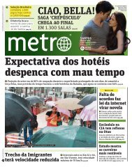 Expectativa dos hotéis despenca com mau tempo - Metro