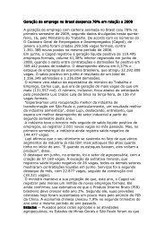 Geração de emprego no Brasil despenca 78 - Siemaco