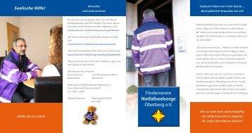 Förderverein Notfallseelsorge Oberberg e.V. Förderverein ...