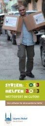 IRD-Fundraising-Leitfaden_Syrien_2013 - Islamic Relief e.V.
