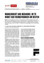 Im TV wirkt der Werbefranken am besten [PDF