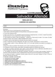 Prova - Cursinho Popular Salvador Allende