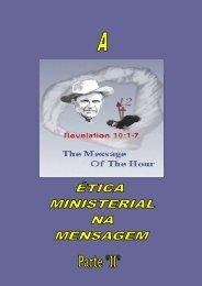 ETICA MINISTERIAL PARTE 2 - Tabernáculo A Voz de Deus