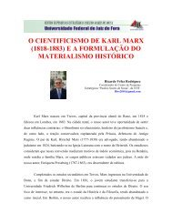 o cientificismo de karl marx ea formulação do ... - UFJF /Defesa