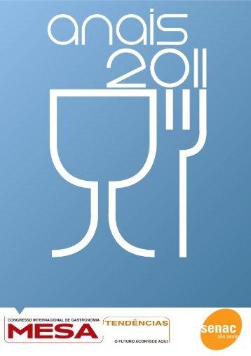 Congresso Internacional de Gastronomia – Mesa Tendências 2011 ...