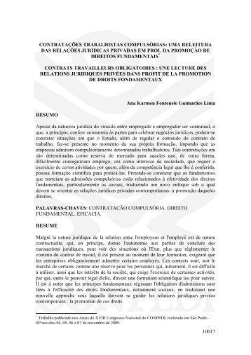 10017 contratações trabalhistas compulsórias: uma ... - publicaDireito