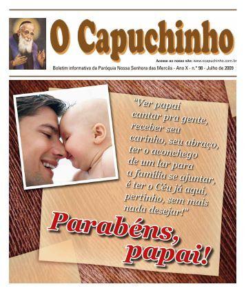 """Jornal """"O Capuchinho"""" - julho de 2009 - Paróquia Nossa Senhora ..."""