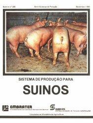 sistema de produçao para suinos - Infoteca-e - Embrapa