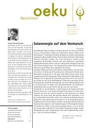 Année Rousseau 2012 - oeku Kirche und Umwelt