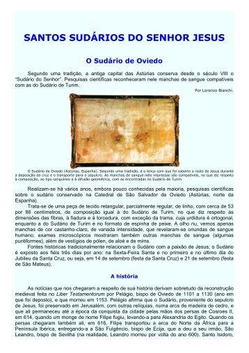 164 - Santos Sudários do Senhor JESUS - Maria Mãe da Igreja