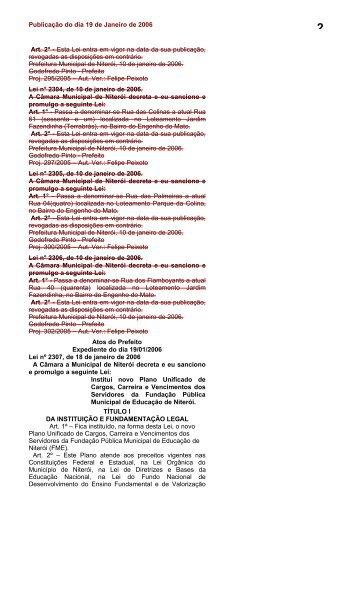 LEI 2307, de 18 de janeiro de 2006 - Fundação Municipal de ...