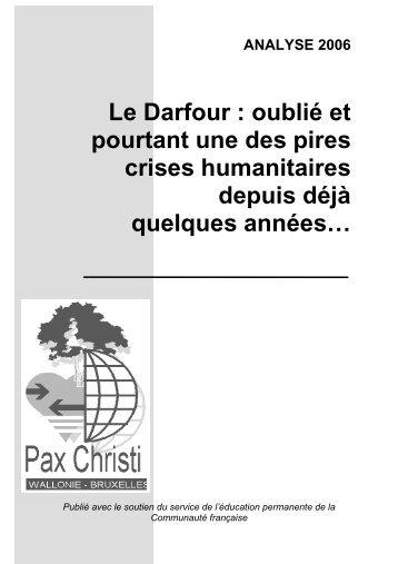 Le Darfour : oublié et pourtant une des pires crises humanitaires ...