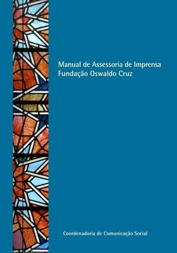 Manual de Assessoria de Imprensa Fundação Oswaldo Cruz - Fiocruz