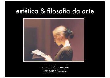 estética & filosofia da arte - Carlos João Correia