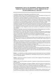 convention n° 182 de l'oit concernant l'interdiction des pires formes ...