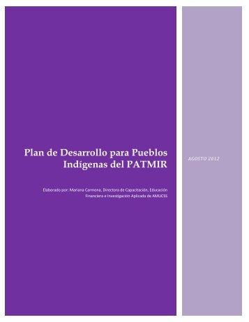 Plan de Desarrollo para Pueblos Indígenas del PATMIR