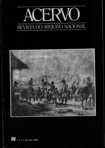A escravidão negra na província de Goiás - Arquivo Nacional